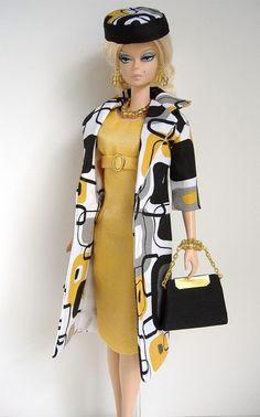 Handmade Coat and Dress for Silkstone Fashion Model Barbie ( Little Garments )