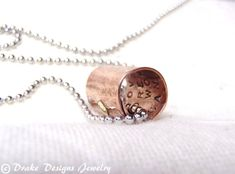 Secret Message Necklace Personalized Boyfriend Gift Girlfriend Gifts for Men  This listing is for one approximately 1/2 wide copper message