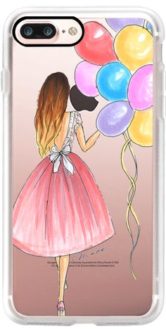 Casetify iPhone 7 Plus Classic Grip Case - Birthday Balloons!  by Inarina illustration #Casetify