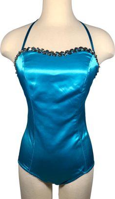 Silver Sequin, Tankini, Label, Bodysuit, Sequins, Spandex, Swimwear, Shopping, Vintage