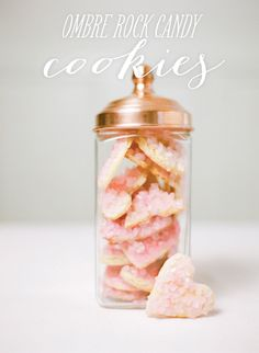 #candy, #cookies, #ombre, #copper, #rock-candy, #valentine, #heart, #cookie-cutter, #valentines-day    View entire slideshow: Kids Sweet Treats on http://www.stylemepretty.com/collection/960/