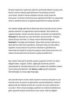 Islami sohbet by Huseyin Goktas via slideshare
