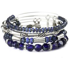 Alex And Ani Midnight Equinox Beaded Bangle Set ($158) ❤ liked on Polyvore featuring jewelry, bracelets, bangle charm bracelet, alex and ani charms, charm bracelet, bangle charms and bead charm bracelet