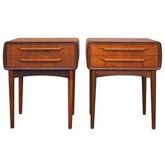 Pair of Bedside Tables by Johannes Andersen for Uldum Furniture. 2200