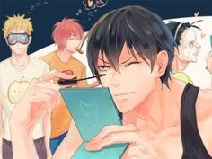 Image de Fukutomi Juichi, Hayato Shinkai, Toudou Jinpachi, Yasutomo Arakita de la série Yowamushi Pedal dessinée par Pixiv Id 950160