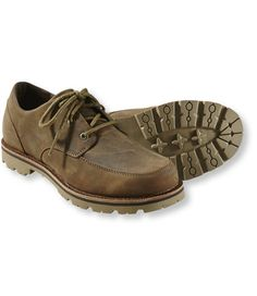These rugged, water-resistant shoes offer modern-day comfort and rustic style that instantly adds character to any outfit. Expertly crafted using rich leather that gets better with age and a lugged outsole for no-nonsense traction and support. Imported.