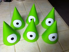 Make your own Monsters Inc party hats!!!!!