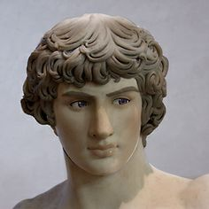 Antinous, as imagined by Arthur Roman Sculpture, Sculpture Art, Ancient Rome, Ancient Greece, Roman History, Angel Pictures, Roman Emperor, Roman Art, Ancient Beauty
