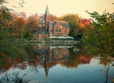Textured Minnewater Reflection (Bruges, Belgium) - found on somethingsighted.blogspot