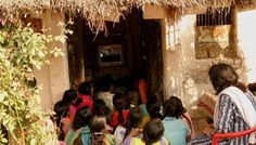 From the Digital Study Hall - a group of rural girls and women learning by watching a recording of a teacher. These recordings are distributed by DSH to rural and impoverished areas of India so they can learn from some of the best teachers. For more info on DSH visit our website: https://www.monafoundation.org/project/Digital-Study-Hall/14 — in India.
