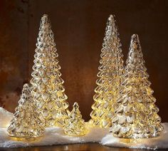Silver Mercury Glass Trees | Pottery Barn AU