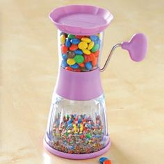 Make your own toppings with a crank of Topper Chopper.! Way cool