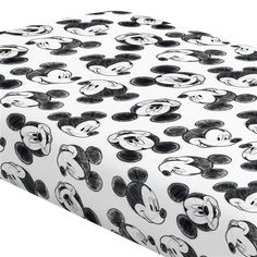 Disney Baby Charcoal Mickey Mouse Crib Sheet made with care in the USA by Carousel Designs. Disney Baby Rooms, Twin Baby Rooms, Disney Baby Nurseries, Disney Bedding, Disney Nursery, Baby Boy Nurseries, Baby Disney, Disney Cars, Mickey Mouse Nursery