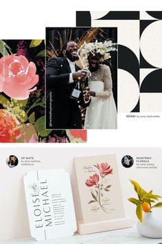 Remember — don't rush the follow up on your wedding invitations! It's likely that your guests mailed their RSVPs just as the deadline approached. Wait three-four days (or even better, a week) before calling to follow up! #stylemepretty #minted #weddinginvitations Save The Day, Unique Wall Art, Stuff To Do, Holiday Cards, Wedding Invitations, Stationery, Mint, Floral, Christian Christmas Cards
