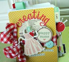 Mini album by Danielle Flanders using October Afternoon Modern Homemaker products
