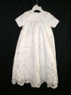 Simply Barbara re-design, a christening gown that was formerly a wedding dress