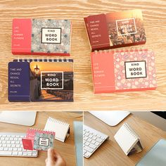Dollimo Korea stationery fashion simple foreign language learning this shielding plate can be bi-present memory of words