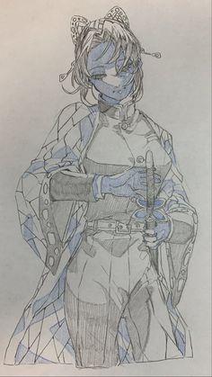 Anime Drawings Sketches, Anime Sketch, Manga Drawing, Manga Art, Anime Art, Demon Slayer, Slayer Anime, Anime Poses Reference, Art Poses