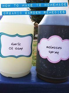 A Dozen Homemade Organic Garden Remedies