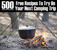Please Share This Page: 500 Free Recipes To Try On Your Next Camping Trip – Image To Repin / ShareImage – © svetlankahappy – fotolia.com What could be better than sitting around a camp fire on a deep starry night, keeping warm, telling stories, sipping drinks and of course cooking up a delicious camp meal? [...]