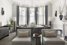 Contemporary Dining Room in London, GB by Janine Stone & Co
