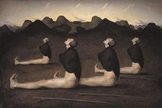 Dawn Canvas Print by Odd Nerdrum. All canvas prints are professionally printed, assembled, and shipped within 3 - 4 business days and delivered ready-to-hang on your wall. Choose from multiple print sizes, border colors, and canvas materials. Oil On Canvas, Canvas Art, Canvas Prints, Figure Painting, Painting & Drawing, Eyes Closed, Helsingborg, Ancient Symbols, Rembrandt