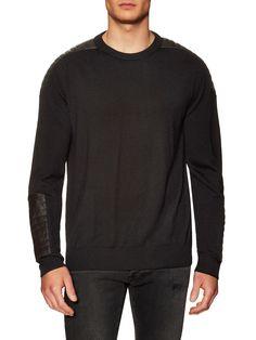 PIERRE BALMAIN MEN'S WOOL SWEATER - BLACK, SIZE 54. #pierrebalmain #cloth #