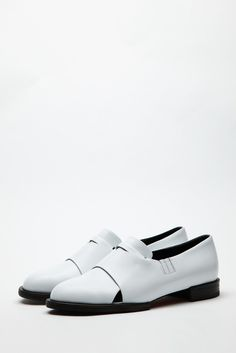 white leather loafer by WNDERKAMMER