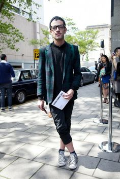 street style london collections men menswear check blazer
