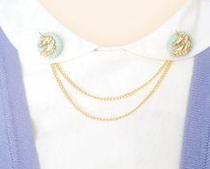 handmade unicorn collar clips   $15