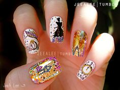 more disney nail art