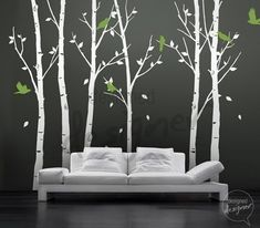 Nursery decal Winter Tree Wall Decal  FREE OWL by designedDESIGNER, $95.00