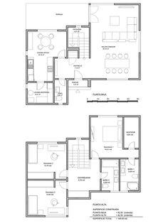 Plano constructivo de vivienda de 165 m2