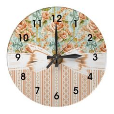 Country Rose Garden Wall Clocks