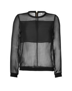 A black silk-and-neoprene blouse by Faith Connexion takes inspiration from the classic bomber jacket. #lifewithlarsa