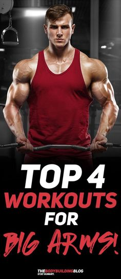 Check out The Top 4 Workouts for Big Arms! #fitness #gym #workout #exercise