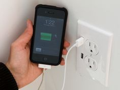 Wall socket with USB ports for charging mobile devices.  This would be fantastic in my kitchen and next to the bed!