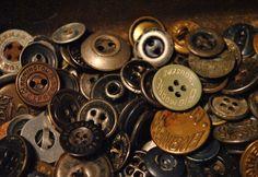 Various metal workwear buttons