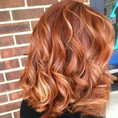 red hair with strawberry blonde highlights