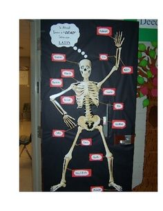 This is one of my all time fav displays. My middle school students absolutely love it! It's Halloween with a twist - the kids actually learn from t...