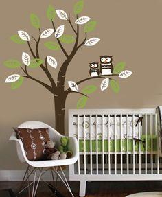 owl decor | Vinyl Wall Decal OWL friends Tree nursery decor by missymoovinyl