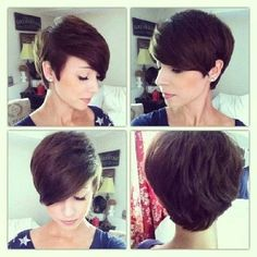 Short Pixie Hairstyles for Thin Hair and Oval Face