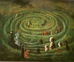 Leonora Carrington, Laberinto, 1975