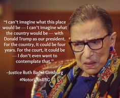 #NotoriousRBG on @realdonaldtrump as POTUS. ‼️ Read the full New York Times interview here.