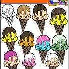 This cute clip art set includes 11 ice cream cone images.  10 in color and 1 in digital stamp format.