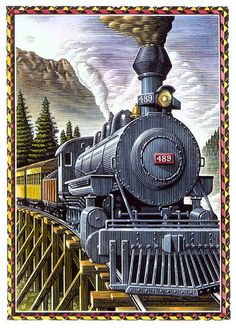 Skunk Train Train Drawing, Train Illustration, Train Art, Railway Posters, Old Trains, Train Pictures, Steam Locomotive, Train Tracks, Photo Reference
