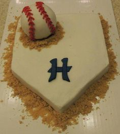 Baseball Cake with Orioles or Nationals Cute Cakes, Pretty Cakes, Baseball Birthday Party, Sport Cakes, Specialty Cakes, Cakes For Boys, Occasion Cakes, Creative Cakes, Cakes And More