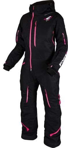 FXR Racing - Snowmobile Gear - Women's Maverick Mono Suit - Black