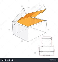 Tall Yellow Box With Blueprint Layout Stock Vector Illustration 170269826 : Shutterstock