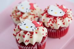hello kitty red velvet cupcakes from cupcake cove in san francisco